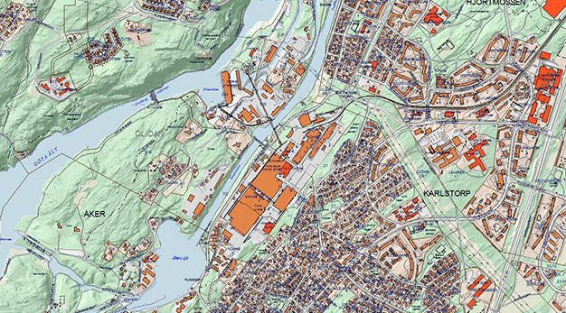 karta trollhättan stad