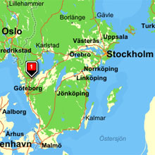 Karta Vanersborg.Kommunikationer Trollhattans Stad