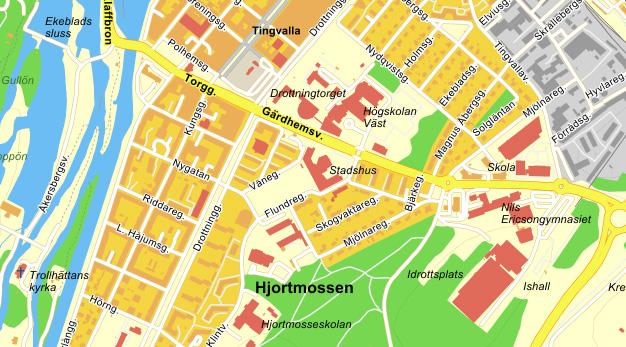 Kartta Kaupungintalo Trollhattanin Kaupunki